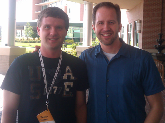 Scott Hanselman and I at HDC 2011